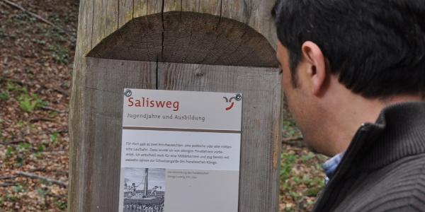 Spannende Informationen auf dem Salisweg