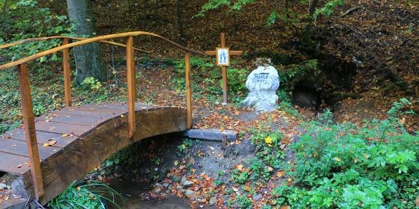 A Mária-kút forrása a Vár-völgyben