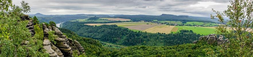 Foto Panorama vom Schrammsteinweg