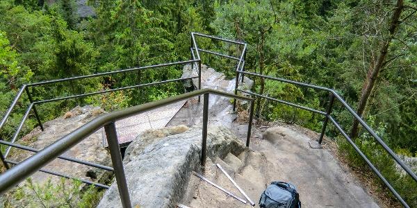 Aussichtspunkt am Hermannseck oberhalb der Kirnitzschklamm