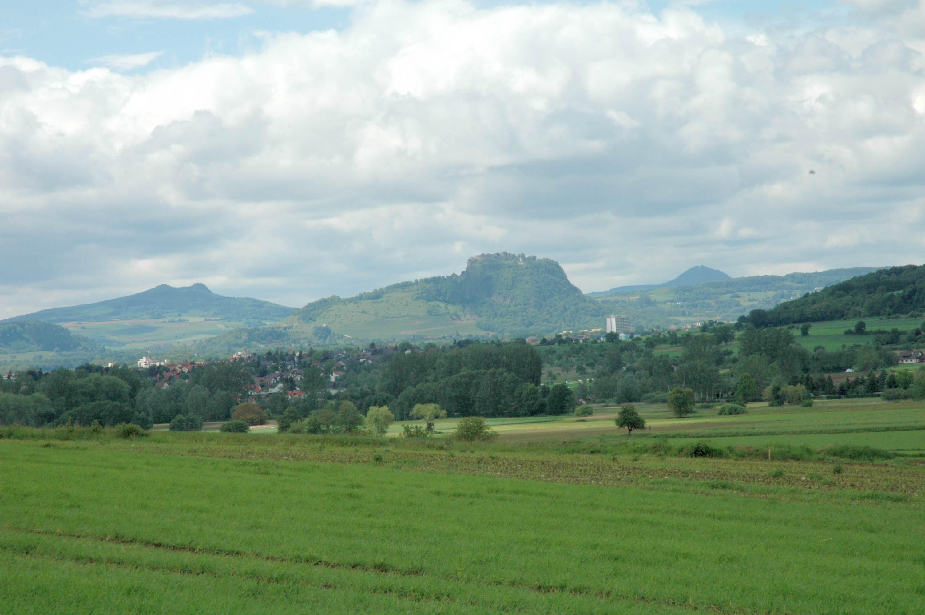 Blick in den Hegau aus südlicher Richtung