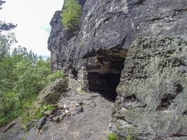 Foto Der Eingang in die Lichterhöhle