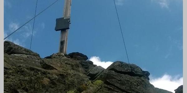 Das Gipfelkreuz am Hörndle (2985m)
