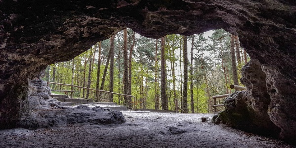 Blick aus der Gamrighöhle