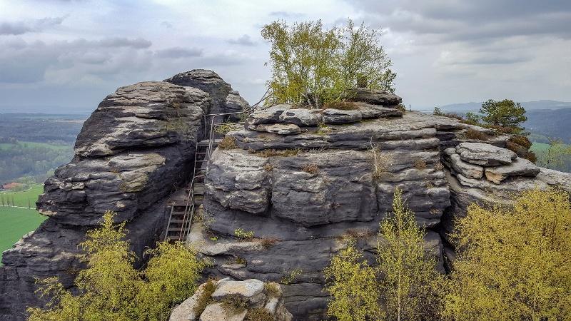 Foto Interessante Stiegen auf dem Lilienstein