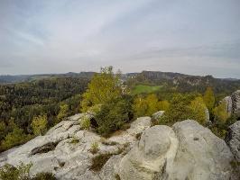 Foto Blick vom Gamrig über das Rathener Gebiet