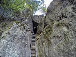 Foto Der untere Aufstieg auf das Hintere Raubschloss