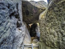 Foto Der untere Teil des Zustiegs auf das Hintere Raubschloss