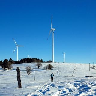 Windpark auf dem Mont Crosin.