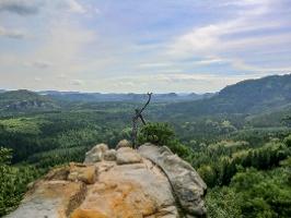 Foto Die Aussichtsstelle nahe der Oberen Affensteinpromenade