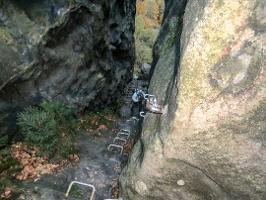 Foto Kurz vor dem Ende des unteren Teils der Häntzschelstiege
