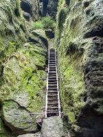 Foto Die lange Treppe im unteren Teil der Wilden Hölle