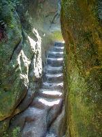 Foto Die Stufen im untersten Teil der Wilden Hölle