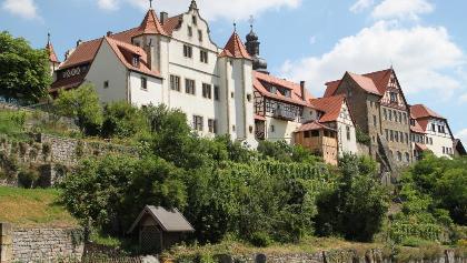 Herrschaftliches Stadtpanorama - Graf-Ebersein-Schloss Kraichtal-Gochsheim