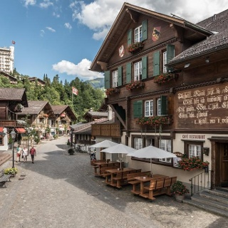 The historic old town of Gstaad