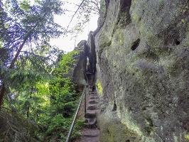 Foto Der Zustieg zum Arnstein (Ottendorfer Raubschloss)