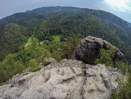 Foto Blick vom Großen Teichstein - im Tal das Alte Zeughaus