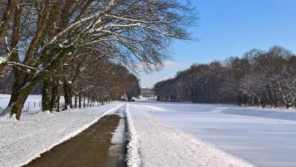 Schloss Herrenchiemsee im Winter