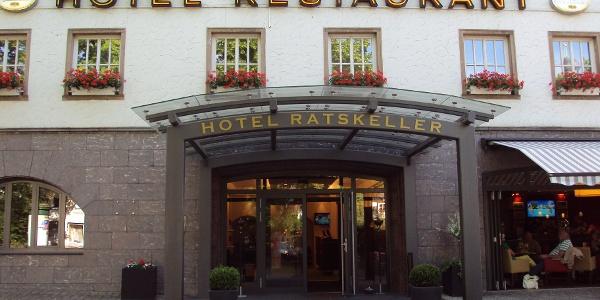 Eingang Restaurant Ratskeller am Marktplatz