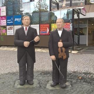 Das Denkmal für die Brüder Fritz und Adolf Busch