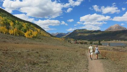 Hiking the Lower Loop for a tour of Crested Butte