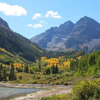 Views of Crater Lake and the Maroon Bells