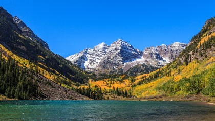 Hiking from Crested Butte to Aspen (views of the Maroon Bells and Crater Lake)