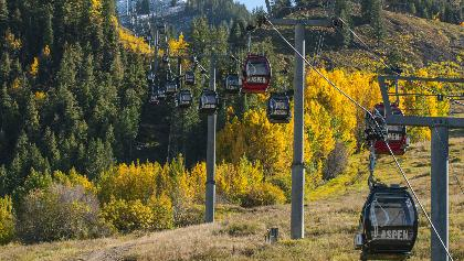 Hike below the gondola and above stunning town of Aspen