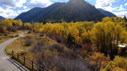 The Rio Grande Trail, a bike path connecting Aspen to Glenwood Springs!