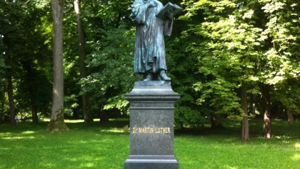 Das einzige Lutherdenkmal im einst katholischen Böhmen steht in Asch