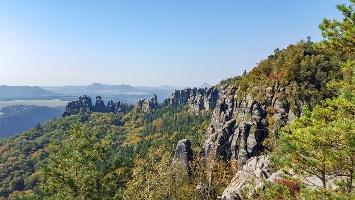 Foto Grandiose Aussichten vom Schrammsteinweg