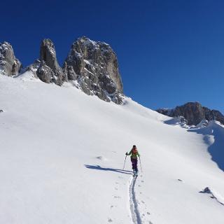 Skitouren in St. Antönien; Ausstieg zum Hasenflüeli