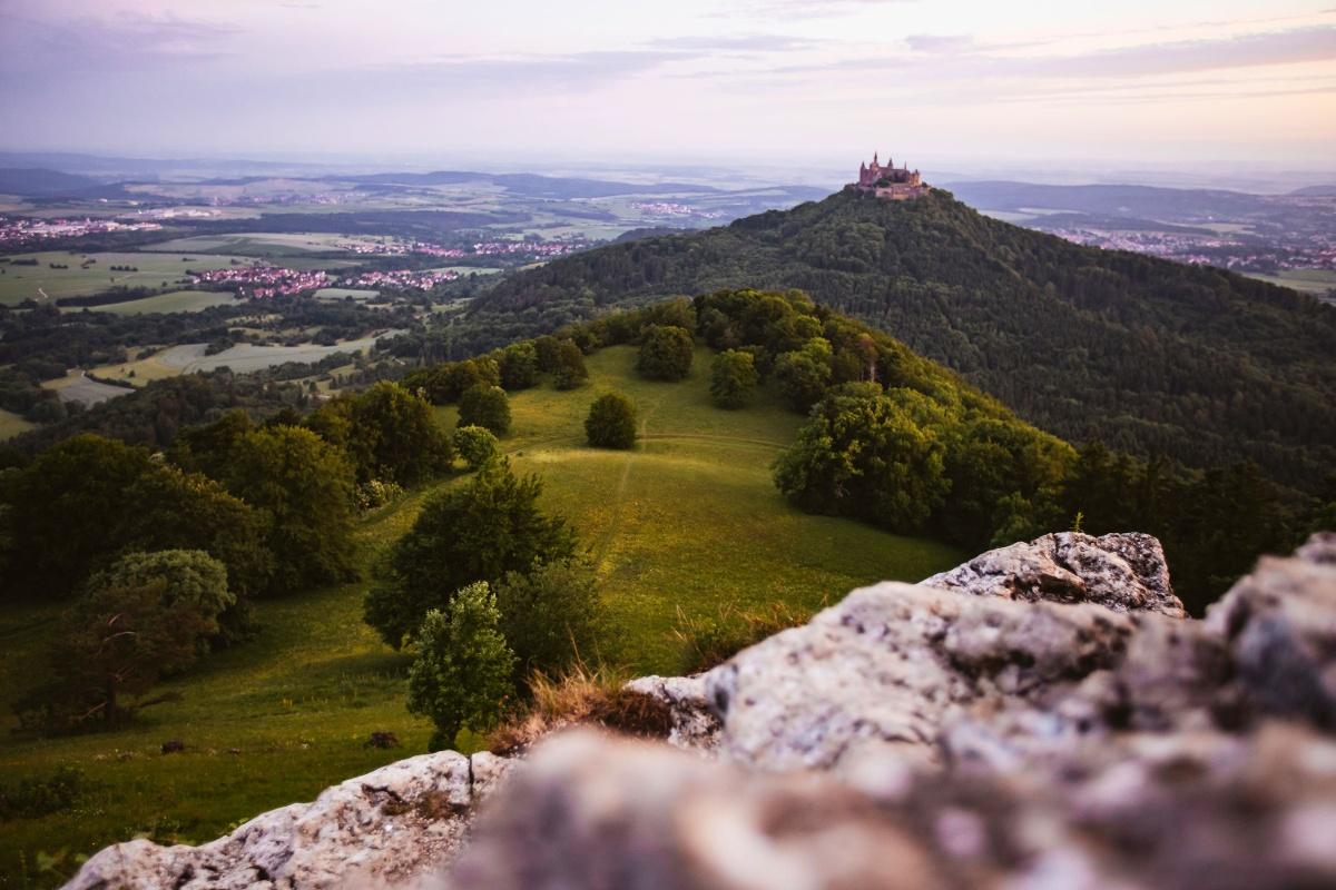 Traufgang Zollernburg Panorama In Albstadt Urlaubsland Baden Wurttemberg
