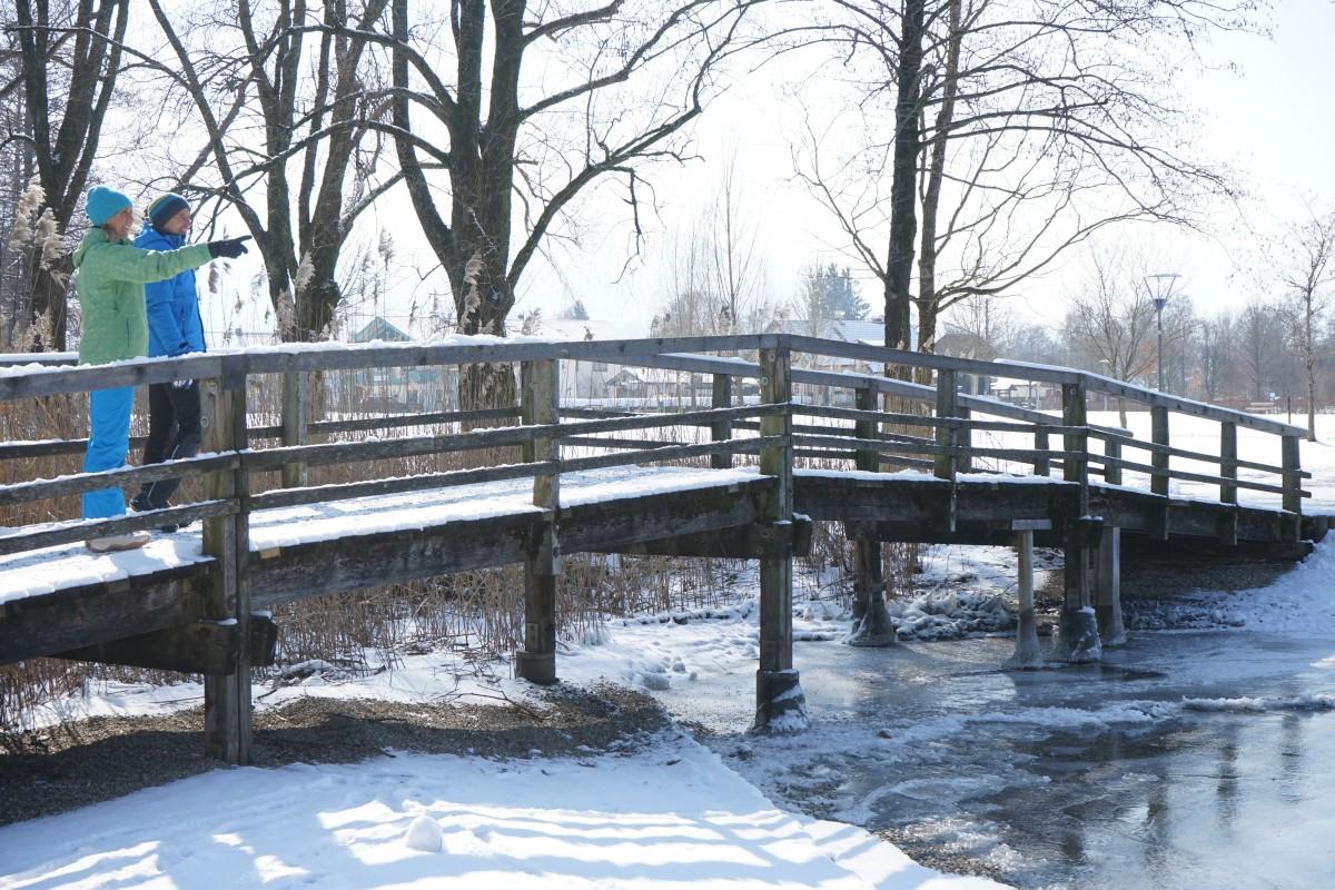 Chiemseerundweg im Winter
