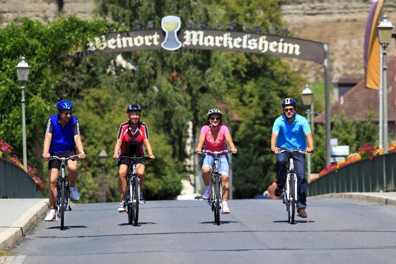 Radfahrer in Markelsheim