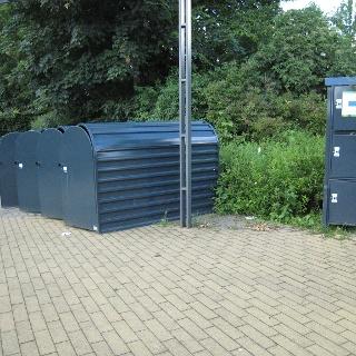 Fahrradboxen und Gepäcksafes - Standort Gartenschaupark Eingang Mitte/ Freibad