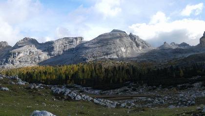 Cima Vallon Bianco und Furcia Rossa Spitzen sowie Campestrinspitze