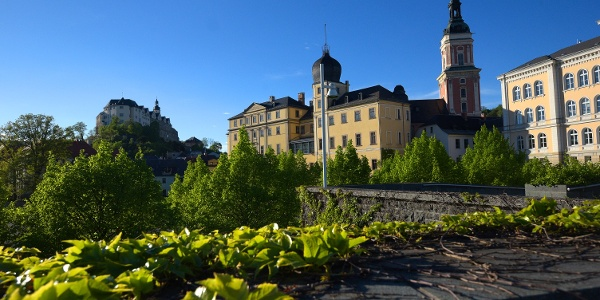 Die beiden Greizer Schlösser und die Stadtkirche St. Marien