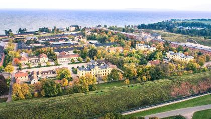 Luftaufnahme der Karlsborgs Festung