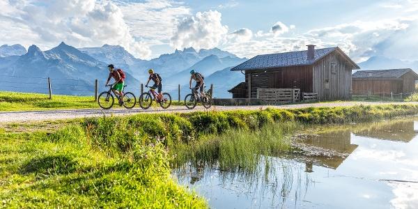 Mountainbiken am Fritzensee