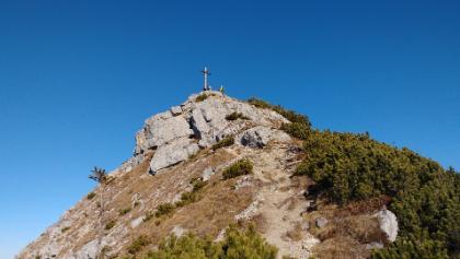 Aiplspitz-Gipfelaufbau von Westen