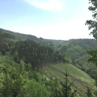 Blick vom Tanzenberg zum GH Prieselbauer