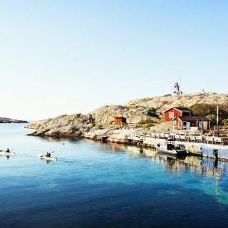Blick auf Väderöarna