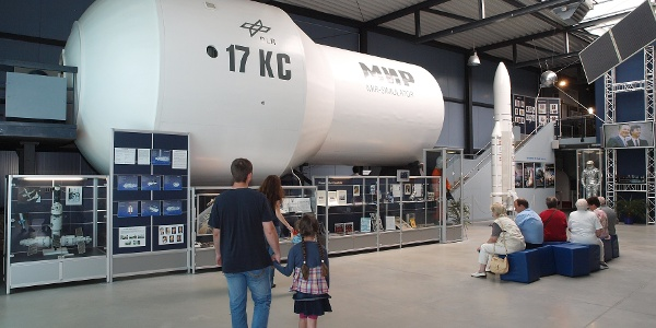 Deutsche Raumfahrtausstellung von innen