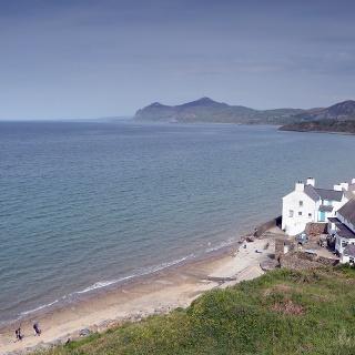 Die Bucht von Porthdinllaen an der Nordküste der Halbinsel Llŷn