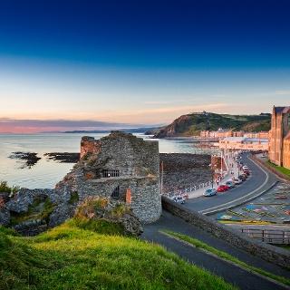 Die Universitätsstadt Aberystwyth an der Cardigan Bay