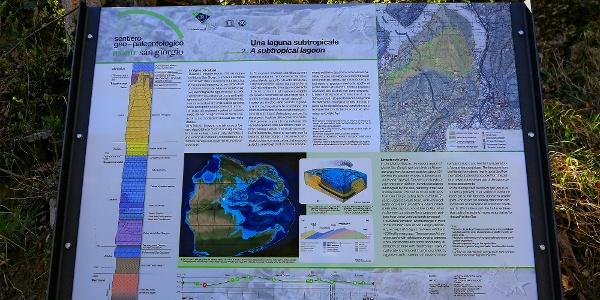 Geo-paläontologischer Themenweg auf dem Monte San Giorgio.