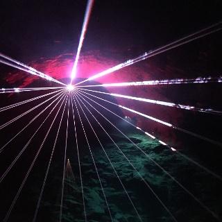 Lasershow in der Drachenhöhle Syrau
