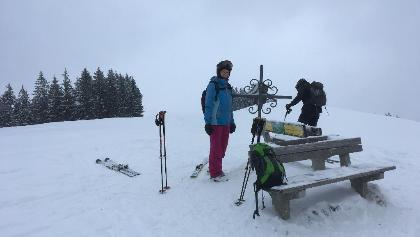 Am Gipfel des Glasenberg auf 971m