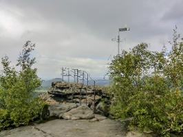 Foto Die Wetterfahnenaussicht auf dem Gohrisch